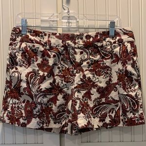Loft Floral shorts Size 4